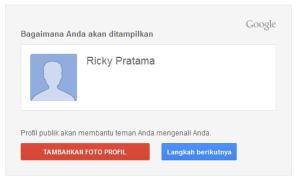 Edit Profil Google